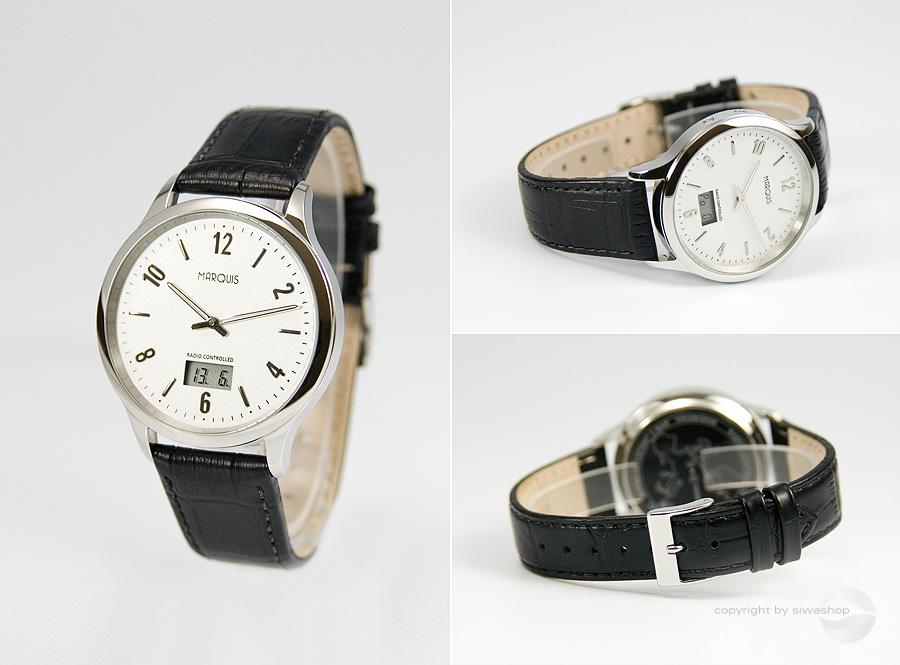 Elegante-Herren-Funkarmbanduhr-mit-JUNGHANS-UHRWERK-Armbanduhr-Leder-964-4718-78