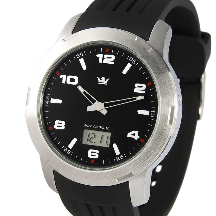 Sportliche-Herren-Funkuhr-Junghans-Uhrwerk-Edelstahl-Armbanduhr-Funk-964-4000
