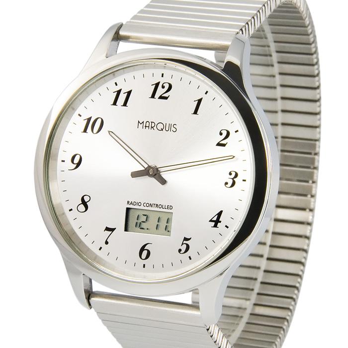 Elegante-Herren-Funkuhr-Junghans-Uhrwerk-Zugband-Edelstahl-Armbanduhr-964-6020