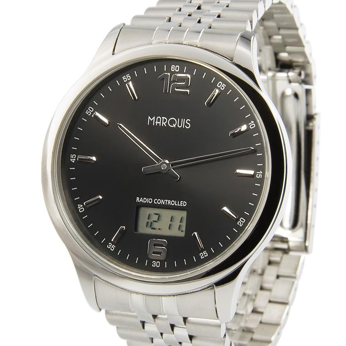 Elegante-Herren-Funkuhr-Junghans-Uhrwerk-Edelstahl-Armbanduhr-Funk-964-6123