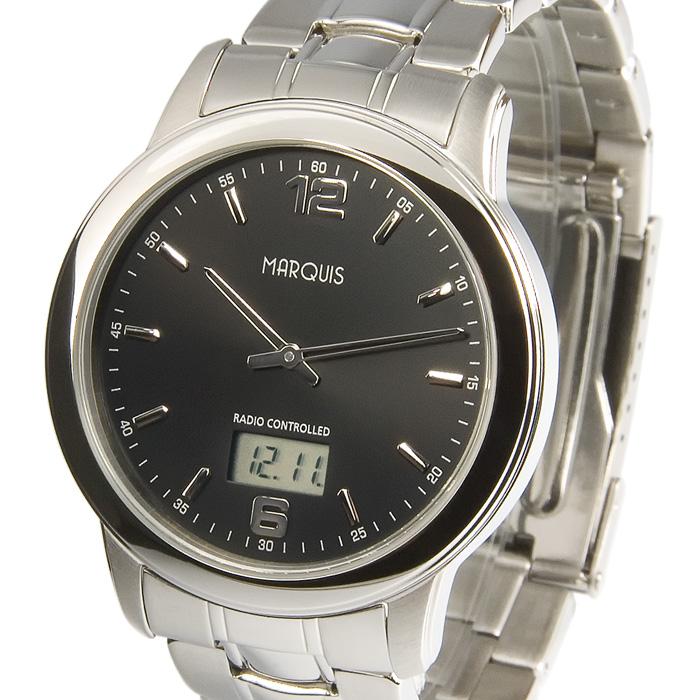 Elegante-Herren-Funkuhr-Junghans-Uhrwerk-Edelstahl-Armbanduhr-Funk-964-6175