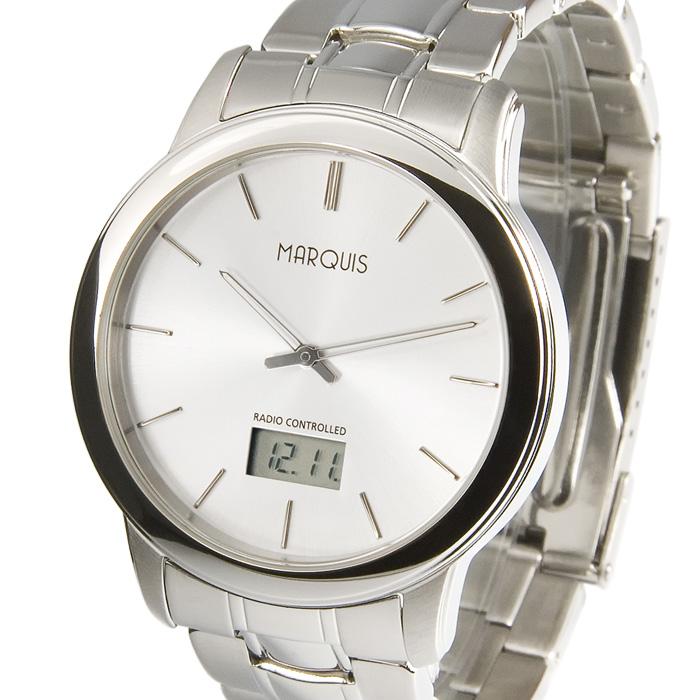 Elegante-Herren-Funkuhr-Junghans-Uhrwerk-Edelstahl-Armbanduhr-Uhr-964-6247